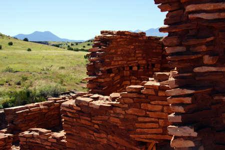 Ruins of houses of the  Lomaki Pueblo, Wupatki National Monument, Arizona   Stok Fotoğraf