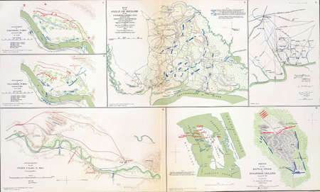 reb: Maps of the battlefields of Shiloh, Roanoke Island and Valverde New Mexico
