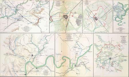 reb: Mapa de batalla de Chattanooga y alrededores