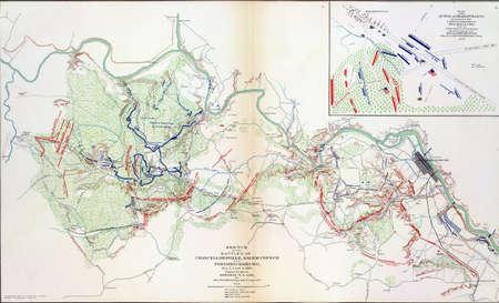 reb: Mapa de batalla de Chancellorsville y Fredericksburg, 1863, del Atlas para acompa�ar a los Registros Oficiales de la Uni�n y los ej�rcitos confederados, 1861-1865 Editorial