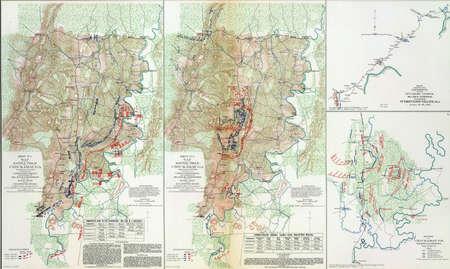 reb: Mapa de batalla de Chickamaugua, Tennessee, 1863, del Atlas para acompa�ar los Documentos Oficiales de la Uni�n y los ej�rcitos confederados, 1861-1865
