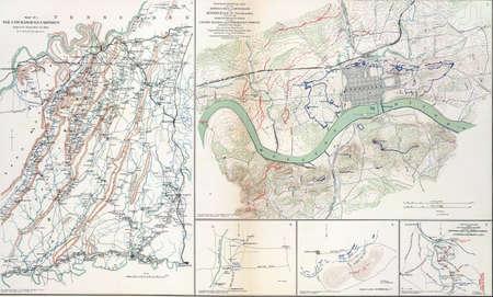 reb: Mapa de las batallas de Chickamaugua y Knoxville, Tennessee, 1863, de Atlas para acompa�ar a los Registros Oficiales de la Uni�n y los ej�rcitos confederados, 1861-1865
