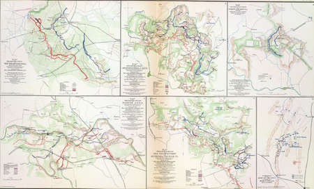 reb: Map of battles of the Wilderness, Spotsylvania and North Anna, 1864 from Atlas to Accompany the Official Records of the Union & Confederate Armies, 1861 - 1865