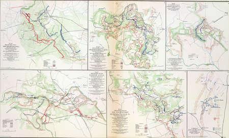 reb: Mapa de las batallas de la Wilderness, Spotsylvania y North Anna, 1864 de Atlas para acompa�ar a los Registros Oficiales de la Uni�n y los ej�rcitos confederados, 1861-1865