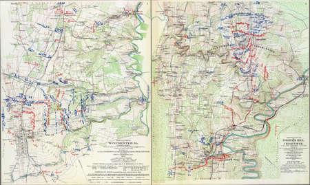 reb: Mapa de batalla de Winchester, Fishers Hill y Cedar Creek, 1864 de Atlas para acompa�ar a los Registros Oficiales de la Uni�n y los ej�rcitos confederados, 1861-1865