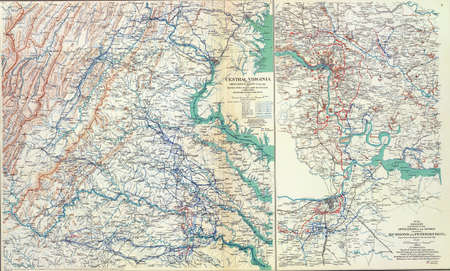 reb: Map of Grants Campaigns near Richmond and Petersburg, 1864 - 1865, from Atlas to Accompany the Official Records of the Union & Confederate Armies, 1861 - 1865