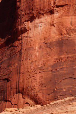 cliff face: Abstract background patterns - sheer cliff face rises along the Taylor Creek trail, Kolob Canyon, Zion National Park, Utah