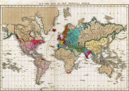 Map Of The World At Independence Of The United States In 1783 ...