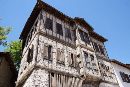 country house style: Old style Turkish konak country house in  Safranbolu, Turkey