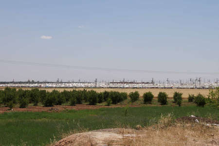 syrian: Akcakale Syrian  refugee camp near the Syrian border,  in Southeastern Turkey, June 2014   Editorial