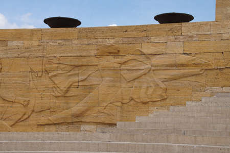 ataturk: Heroic monumental architecture  of Ataturk Mausoleum,  Ankara, Turkey