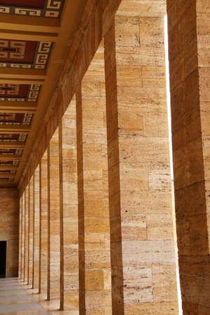 Heroic monumental architecture  of Ataturk Mausoleum,  Ankara, Turkey