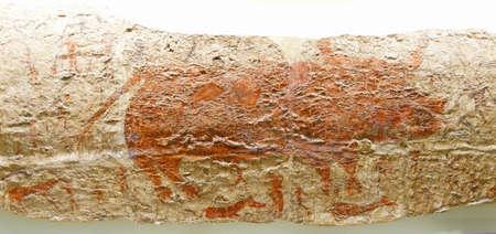 neolithic: Caza escenas de pinturas neol�ticas de Catalhoyuk, 6500 aC, Museo de las Civilizaciones de Anatolia, Ankara, Turqu�a