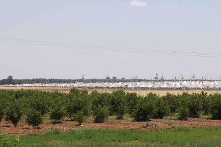 Akçakale Syrische vluchtelingenkamp nabij de Syrische grens, in Zuidoost-Turkije, juni 2014
