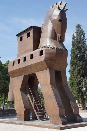 Trojan Horse replica sul sito dell'antica Troia. Tacchino