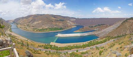 Ataturk dam on Euphrates River in southeastern  Turkey