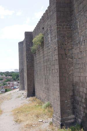 11th century: Medieval walls and towers, originally built in 4th century then restored in 11th century  Diyarbakir, Turkey