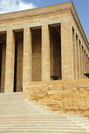Heroic monumental architecture  of Ataturk Mausoleum,  Ankara, Turkey  Editorial