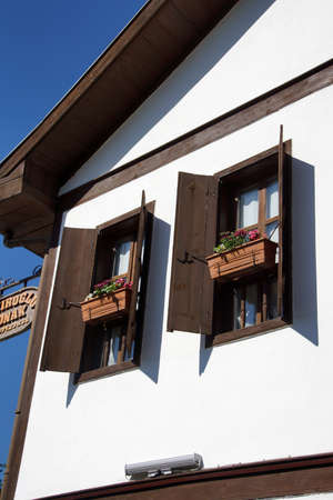 country house style: Detail, Old style Turkish konak country house  in  Safranbolu, Turkey