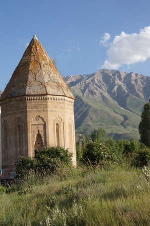 seljuk: Seljuk cemetery and tomb near Lake Van  Turkey   Stock Photo