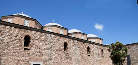 Ottoman walls of the Topkapi Palace  in Istanbul, Turkey