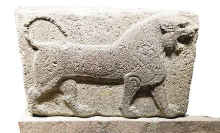 phrygian: Figure of a roaring lion. Kalaba, Phrygian, 1200 - 700 BCE,  Museum of Anatolian Civilization,  Ankara, Turkey