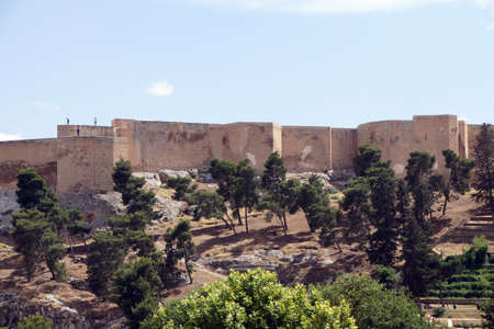 The citadel overlooks the old city  of  Urfa, Turkey   Imagens