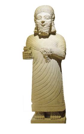 orthostat: Statue of King Mutallu, subject to Sargon II of Assyria, 1200 - 700 BCE,  Aslantepe, Malatya,  Museum of Anatolian Civilization,  Ankara, Turkey