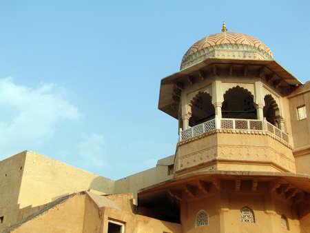 Detail, Islamic  decorations on yellow sandstone Fatepuhr Sikri, Agra,India