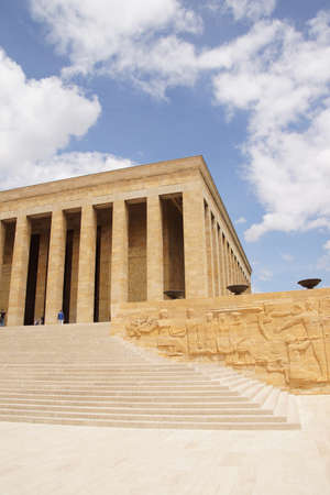 Heroic monumental architecture  of Ataturk Mausoleum,  Ankara, Turkey  Stock Photo