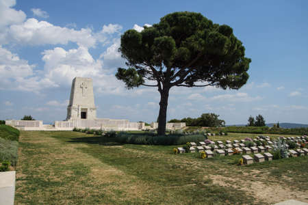 lone pine: GALLIPOLI, TURKEY - MAY 23, 2014 -Lone Pine memorial cemetery for Australian  soldiers killed in battle 99 years ago in World War I