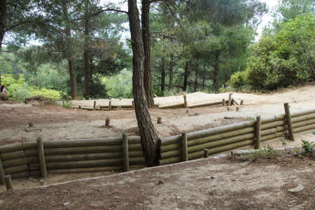 Reconstruction of Turkish trenches used in the battle of Gallipoli  in 1915 during World War I  in Turkey