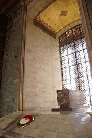 ataturk: Cenotaph  honors Kemal Ataturk  in his  Mausoleum,  Ankara, Turkey   Editorial