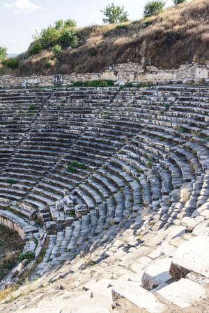 diazoma: Ancient Greek theatre  at  Aphrodisias,  Turkey