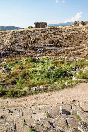 Chariot racing stadium ( hippodrome ), best preserved example of Roman architecture,  Aphrodisias,  Turkey