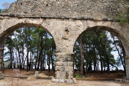 Remains of the Roman aqueduct that served the ancient city of  Phaselis,  Turkey  Reklamní fotografie