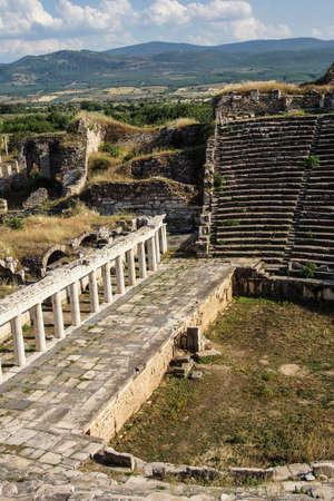 diazoma: Antico teatro greco Afrodisia, Turchia Archivio Fotografico