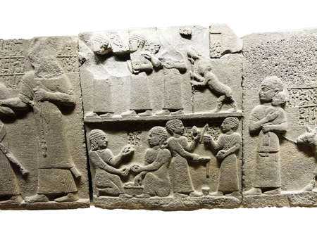 Children of the King playing games, Royal buttress in Kargamis near Gaziantep, 900-700 BCE Museum of Anatolian Civilization,  Ankara, Turkey Editorial