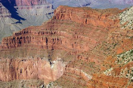 モハーベ ポイントは、グランドキャニオン国立公園、アリゾナ州で、サウス リム トレイルの近くリム ・ トレイルからの渓谷の眺め 写真素材