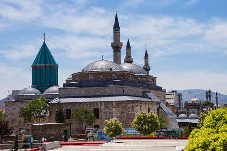 Dôme du Mevlana sanctuaire et mosquée, Konya, Turquie Banque d'images - 30463772