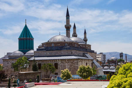 Dome   of the Mevlana shrine and mosque,  Konya, Turkey Stock Photo