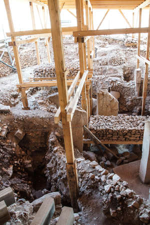 potbelly: Archaeological site of ancient town of  Gobekli Tepe (Pot-belly Hill) in Southeastern Turkey