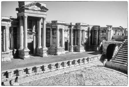 Theater ruïnes van de stad Palmyra, Syrië, Midden-Oosten