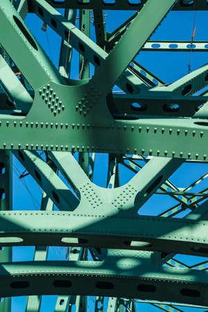 Details of joists and members of  Steel bridge over the Columbia River, Astoria, Oregon