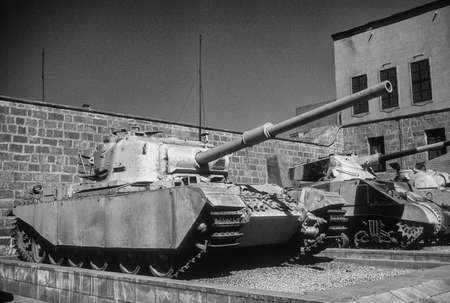 israeli: British Centurion tank, originally from World War II, then used in Arab - Israeli wars, Military Museum, CitadelCairoEgypt, Middle East Editorial