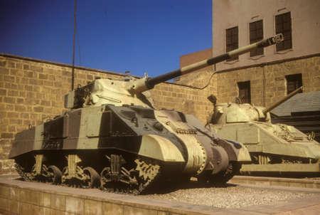 israeli: Sherman tank, originally from World War II, then used in Arab - Israeli wars, Military Museum, CitadelCairoEgypt, Middle East