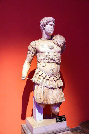 1st century: Roman emperor Trajan with Medusa cuirass, 1st century CE, statue from Perge  in  Turkey