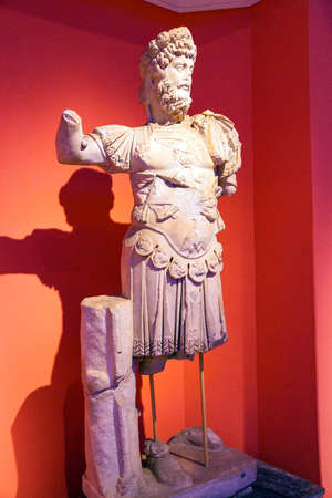 2nd century: Roman emperor Hadrian, 2nd century CE, statue from Perge  in  Turkey