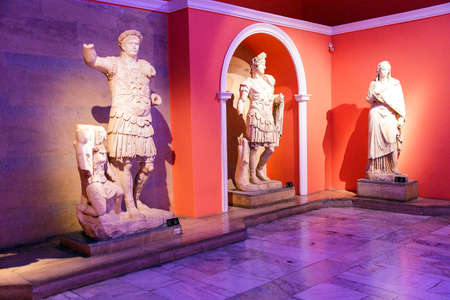 hadrian: Roman emperors Trajan and Hadrian  statue from Perge  in  Turkey