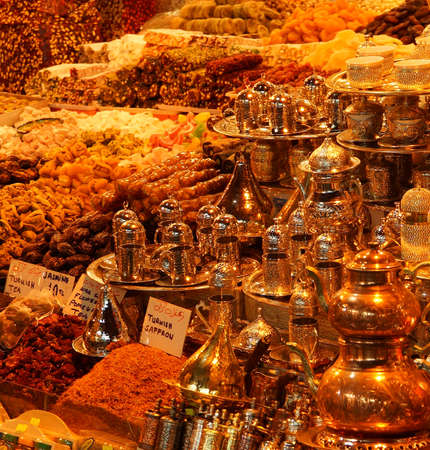tea and coffee sets in Grand bazaar, Istanbul photo